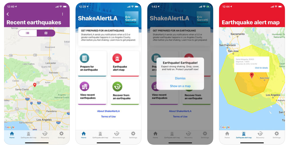 Earthquake App for L.A. County